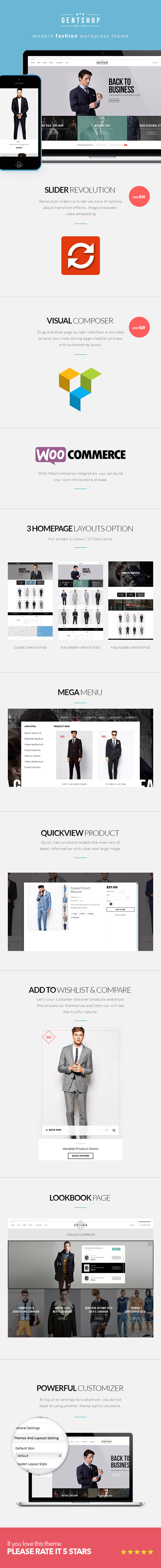 GentShop - LookBook WooCommerce WordPress Theme