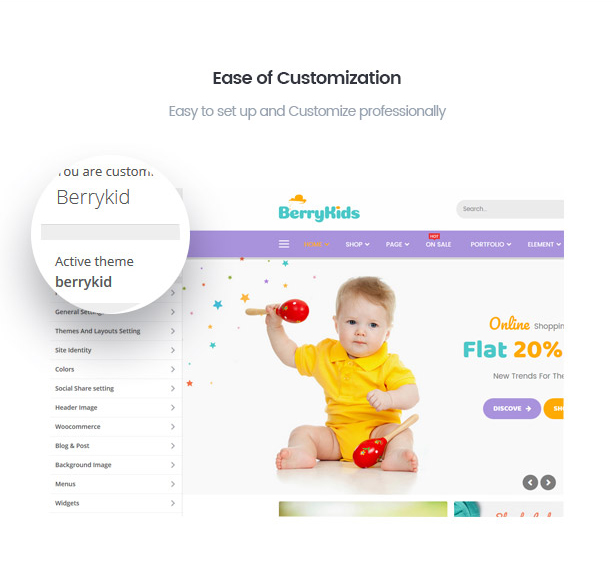 Customize BerryKid baby store theme with ease