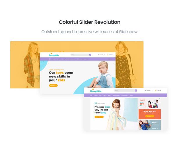 BerryKidベビーファッションショップの統合スライダー革命