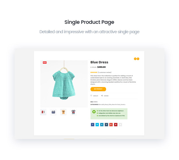 Quick view product in BerryKid baby shop theme