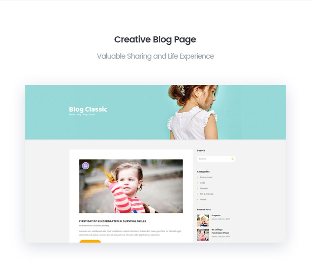 Creative BerryKid baby store blog page
