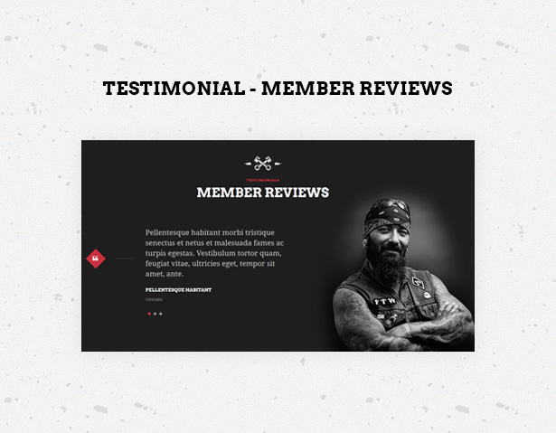 Bikersclub MotorBike theme with testimonials member reviews