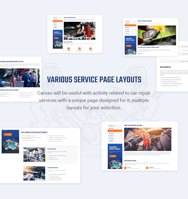 Impress Customers By Best Services Offer - Carsao - Car Service & Auto Mechanic WordPress Theme