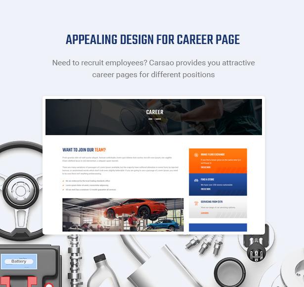 Show Open Positions & Hot Career - Carsao - Car Service & Auto Mechanic WordPress Theme