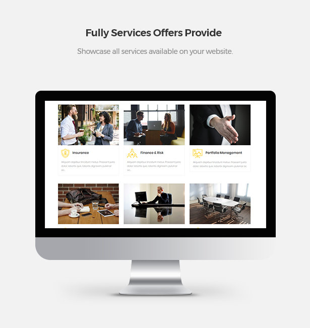 Showcase Fully Service Offers in Corpec Corporate WordPress Theme