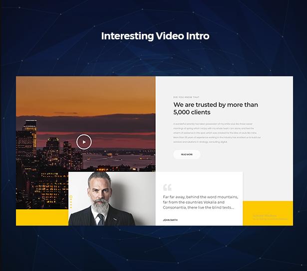 Interesting Video Intro in Corpec Corporate WordPress Theme