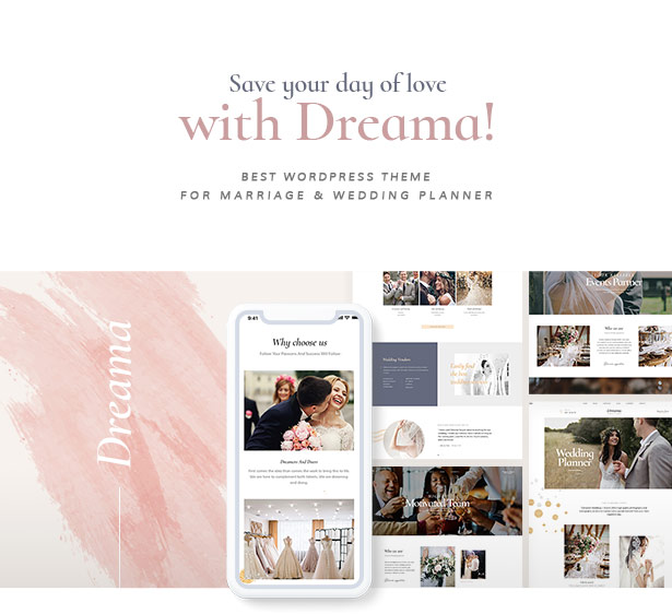 Dreama Responsive Engagement & Wedding Planner WordPress Theme