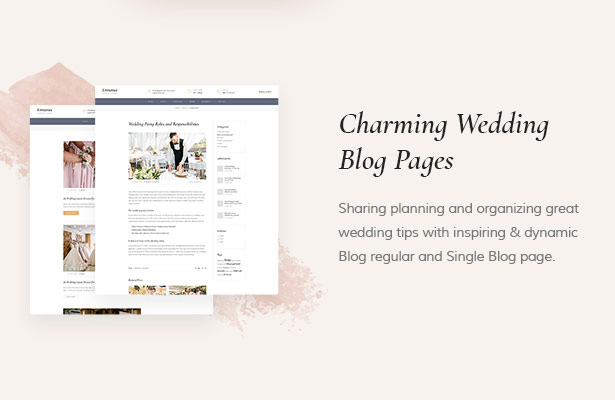 Ideal Blog Dreama Responsive Engagement & Wedding Planner WordPress Theme