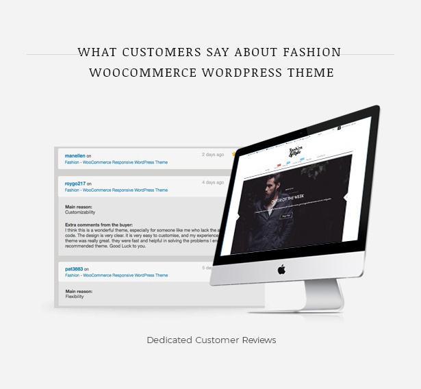 Customer Reviews Fashion WooCommerce Responsive WordPress Theme