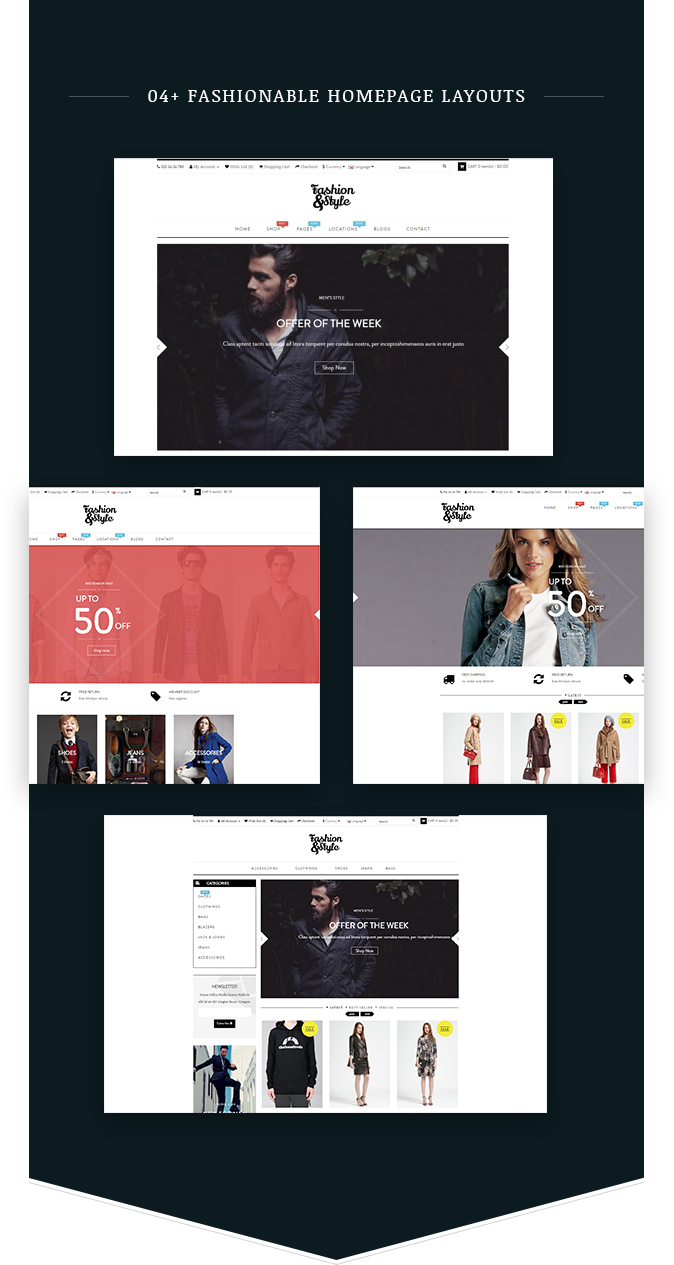 04+ Homepage Demos Fashion WooCommerce Responsive WordPress Theme