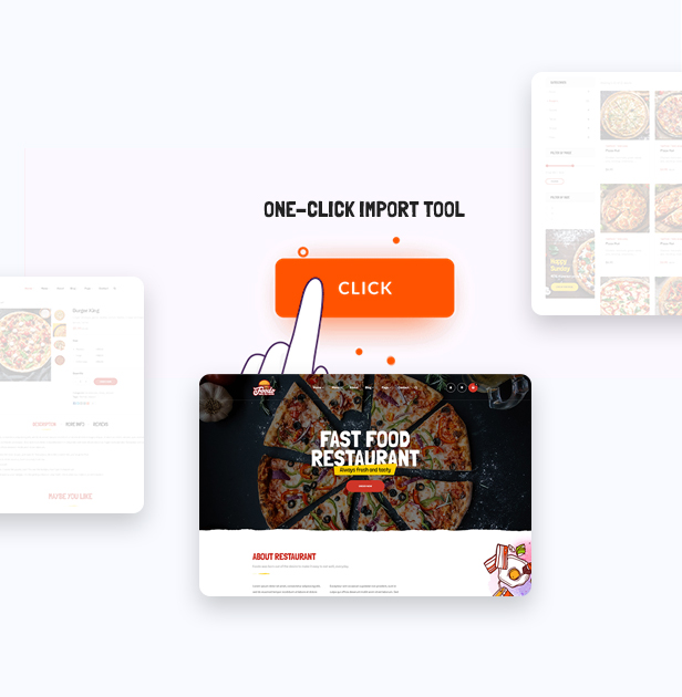 Foodo One Click- Fast Food Restaurant WordPress Theme