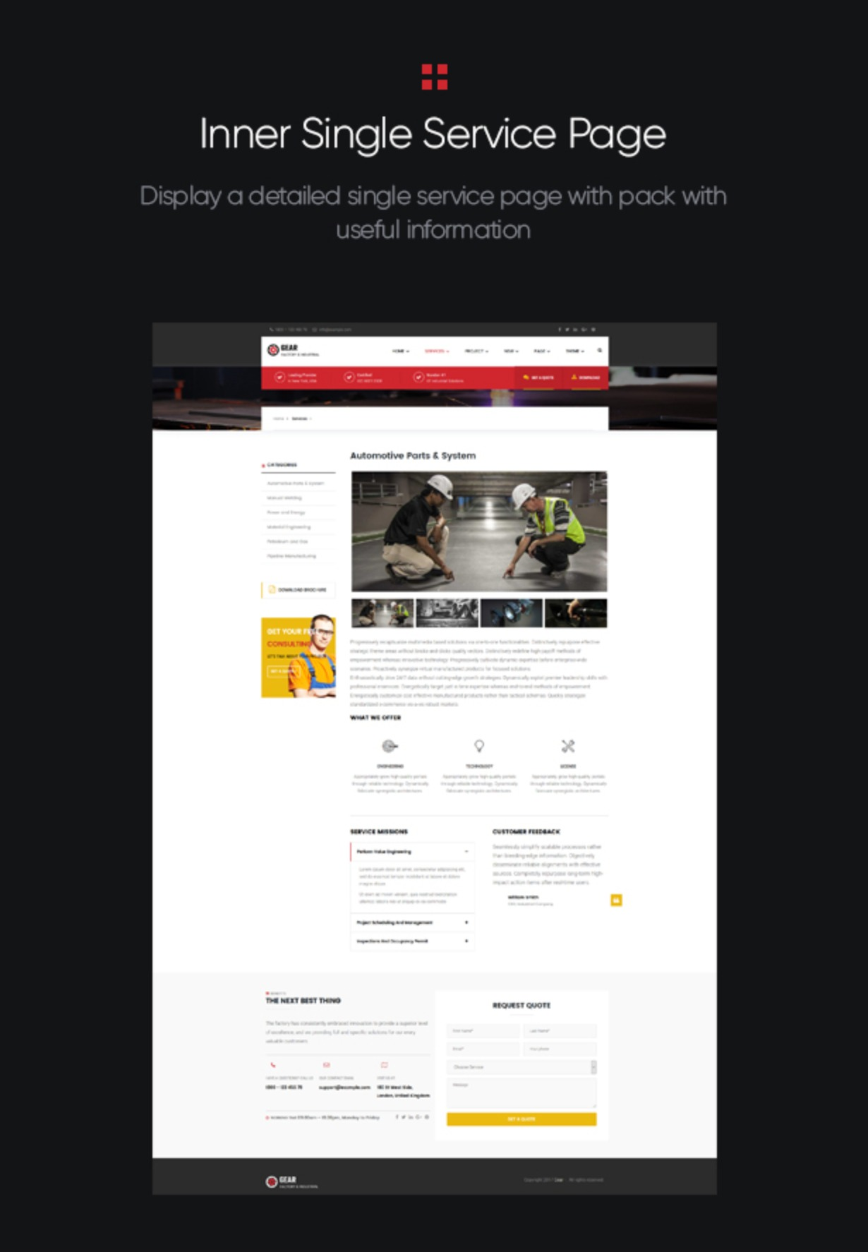 Gear - Factory and Industry Business WordPress Theme inner single service page