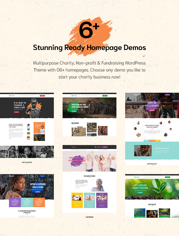 06+ stunning homepage demos in Givelove Non Profit Charity & Crowdfunding WordPress Theme  Download Givelove | Non-profit Charity & Crowdfunding WordPress Theme nulled 2