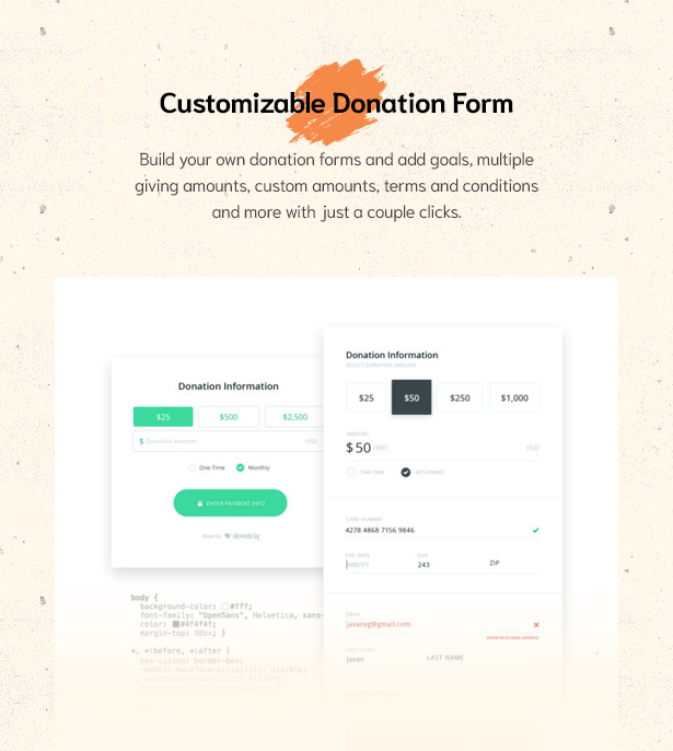 Easily Build Donation Forms in Givelove Non Profit Charity & Crowdfunding WordPress Theme  Download Givelove | Non-profit Charity & Crowdfunding WordPress Theme nulled 6