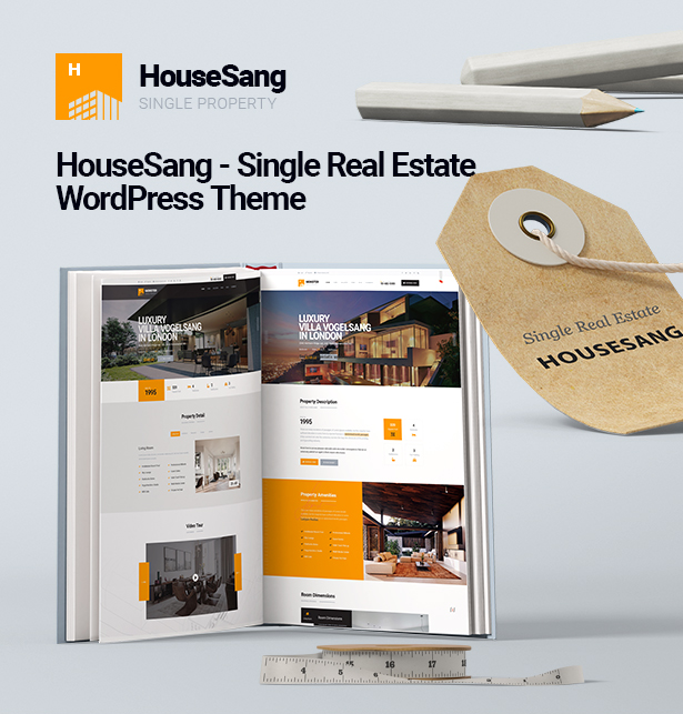 HouseSang Best Single Property & Real Estate WordPress Theme 2019