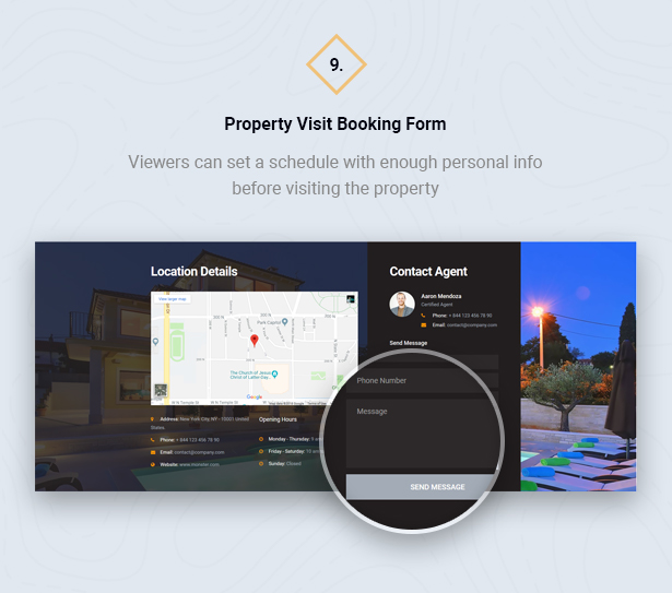 Visit Booking Form in HouseSang Single Property WordPress Theme