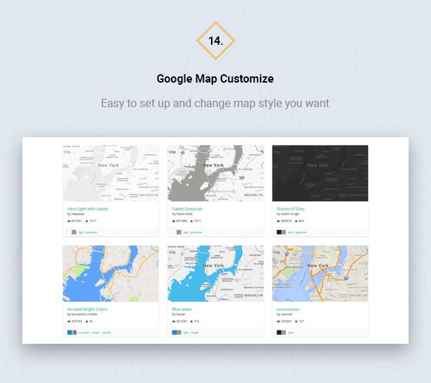 Customize Google Map in HouseSang Single Property WordPress Theme
