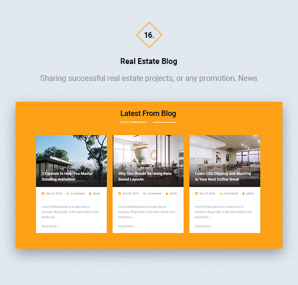 Real Estate Blog in HouseSang Single Property WordPress Theme