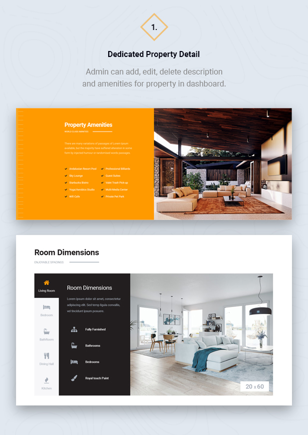 Detail Property Showcase in HouseSang Single Property WordPress Theme