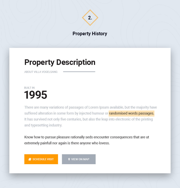 Property History in HouseSang Single Property WordPress Theme