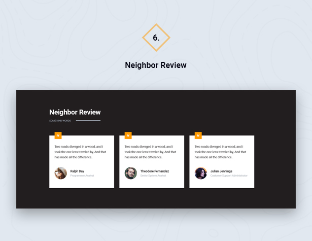 Neighbor Review in HouseSang Single Property WordPress Theme