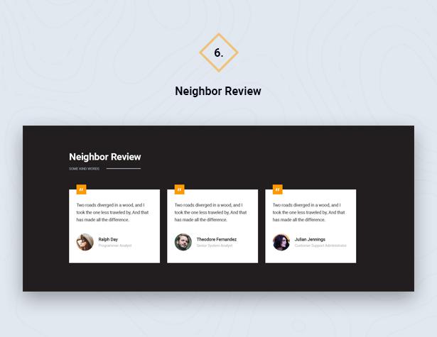 Neighbor Review in HouseSang Single Property WordPress Theme