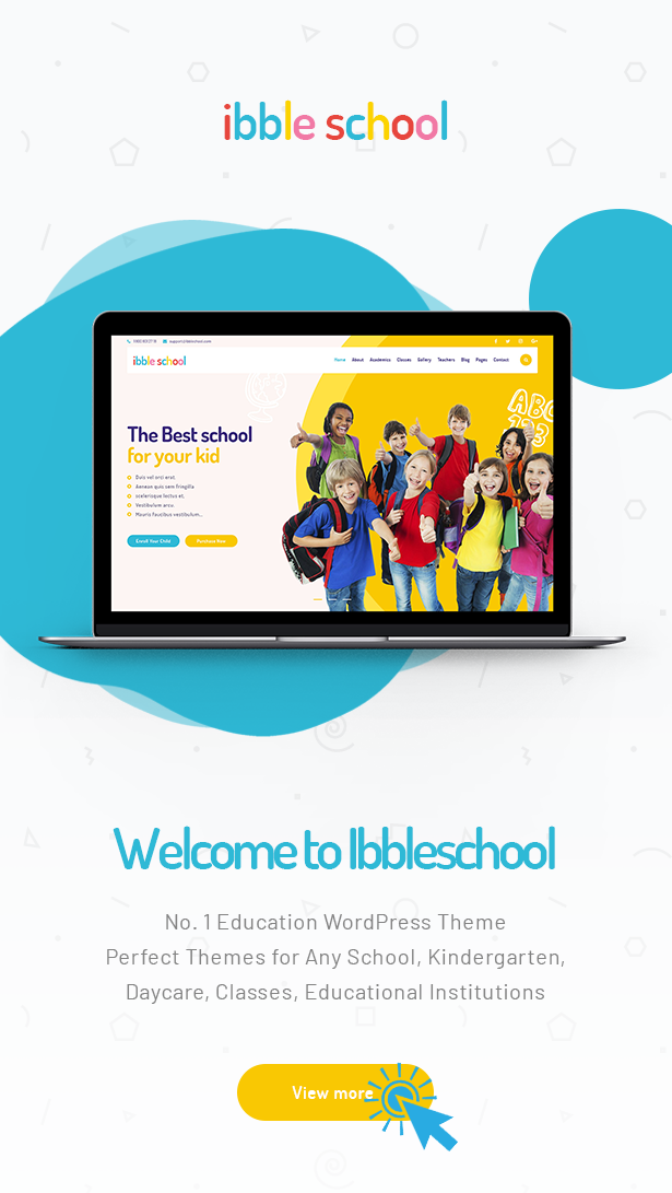 Ibble Best Education WordPress Theme 2019  Download Ibble – Creative Education WordPress Theme nulled 1