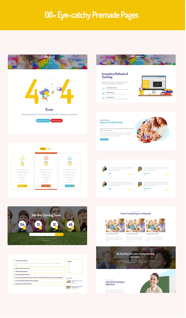 08 inner pages in Ibble Education WordPress Theme  Download Ibble – Creative Education WordPress Theme nulled 4