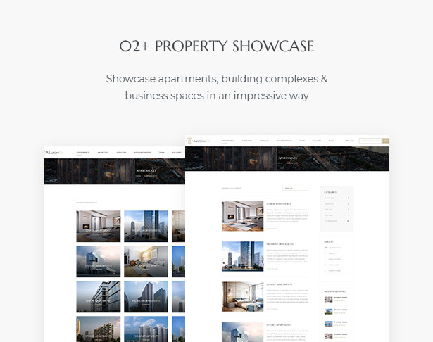 02+ Property Showcase in MaisonCo Single Property For Sale & Rent WordPress Theme