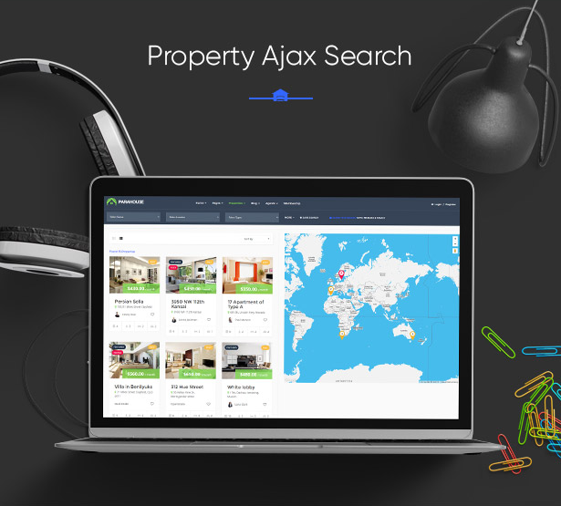 Fast Property Ajax Search in Parahouse Real Estate WordPress Theme