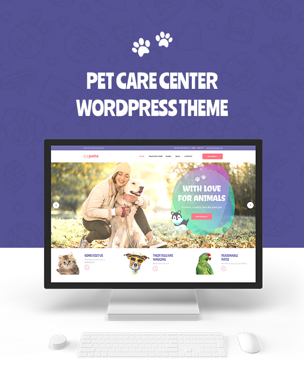 Petie - Pet Care Center & Veterinary WordPress Theme