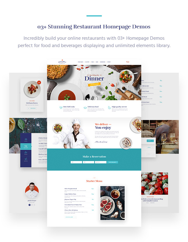 03+ Awesome Restaurant Homepages Souldeli - Exquisite Restaurant & Cafe WordPress Theme