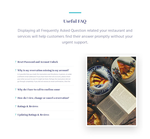 Offer FAQ Section Souldeli - Exquisite Restaurant & Cafe WordPress Theme