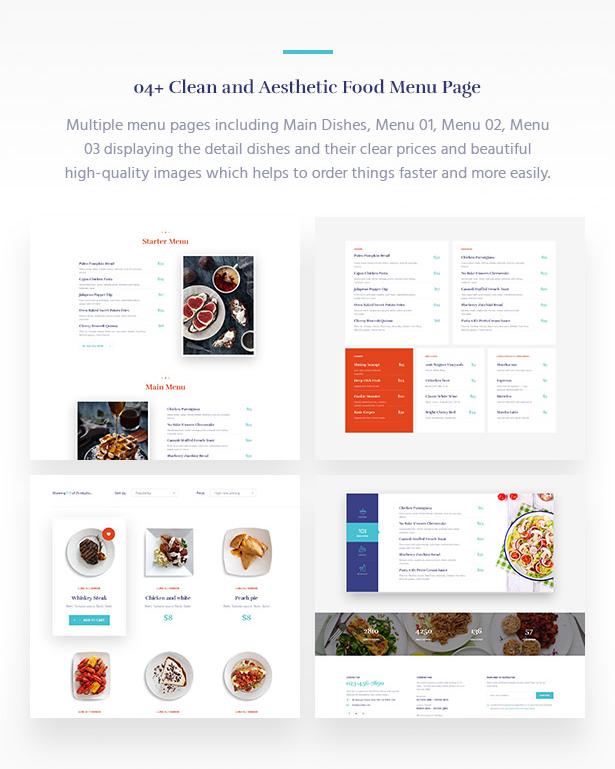 04+ Online Restaurant Menu Souldeli - Exquisite Restaurant & Cafe WordPress Theme