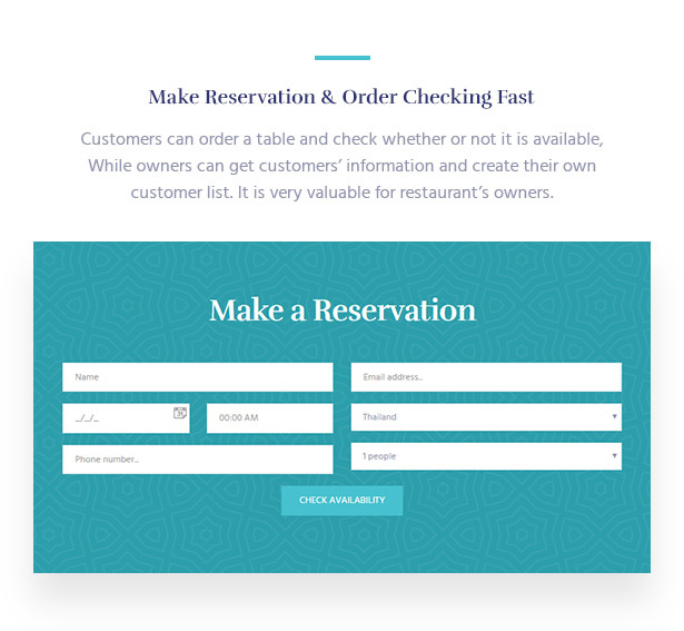 Instant Reservation & Order Checking Souldeli - Exquisite Restaurant & Cafe WordPress Theme