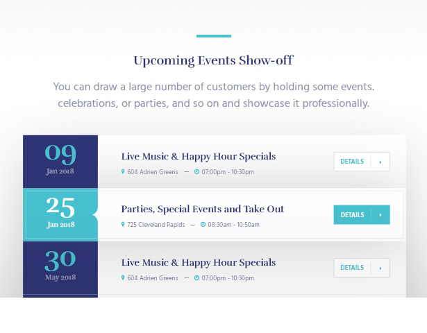 Intriguing Forthcoming Events Souldeli - Exquisite Restaurant & Cafe WordPress Theme