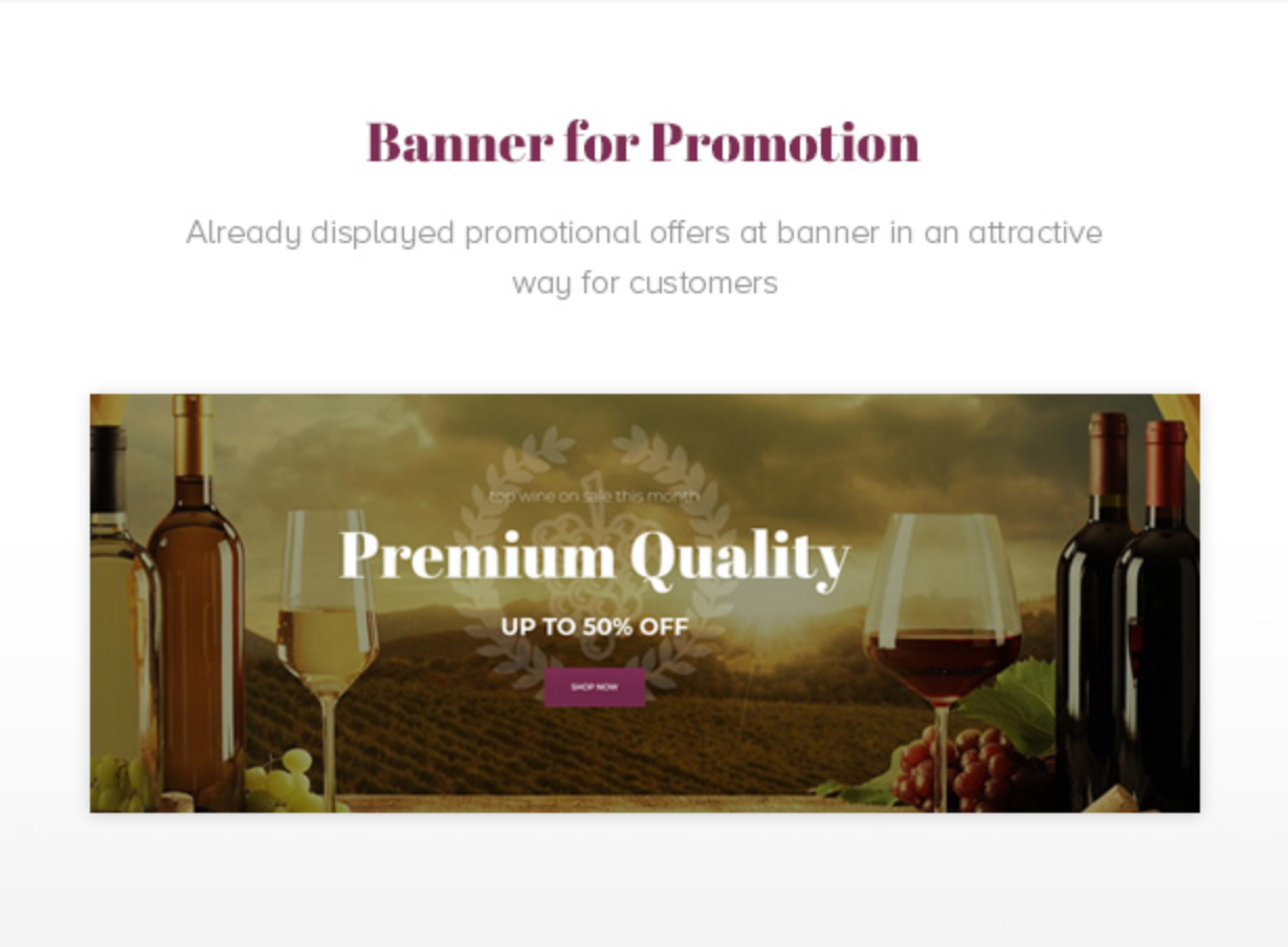 Royanwine Promotion Banner for Vinyard, Winery, Wine Makers, Dairy Farm
