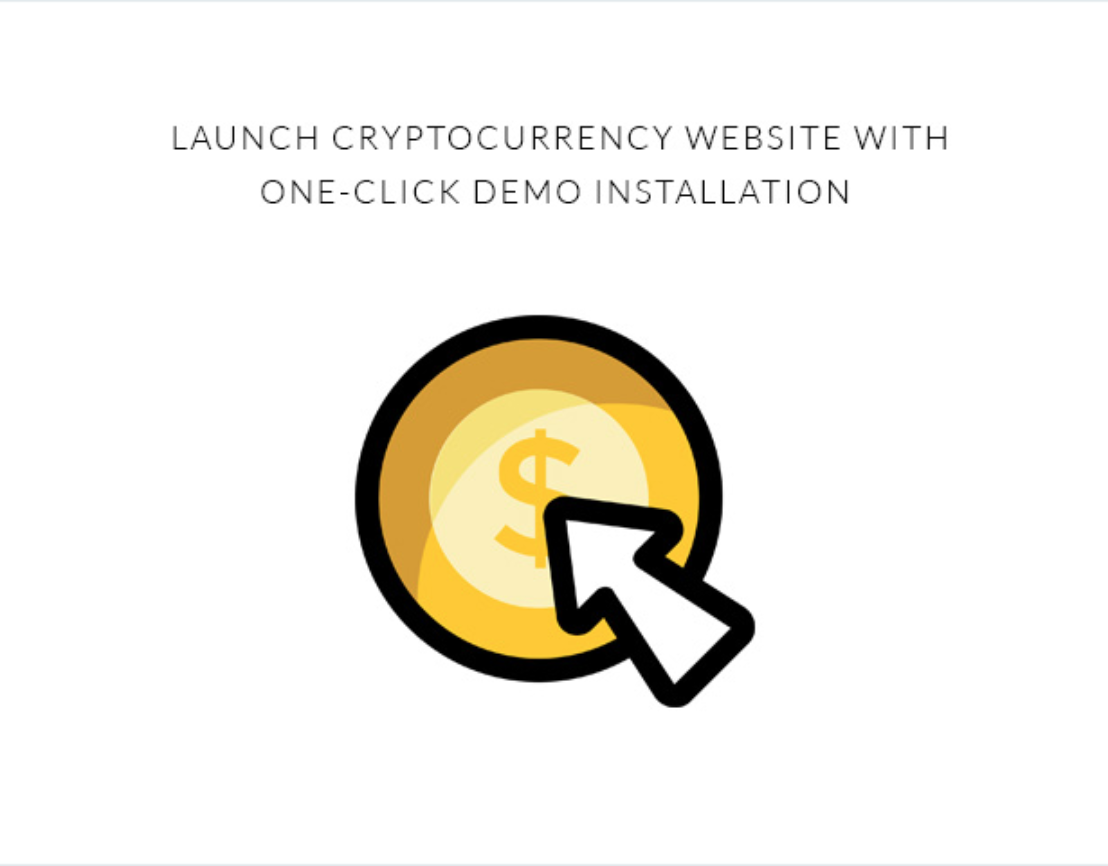 1-click Demo Theme for Bitcoin & Crptoocurrency