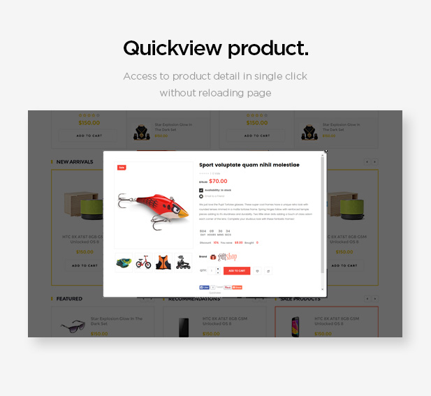 Quickview product