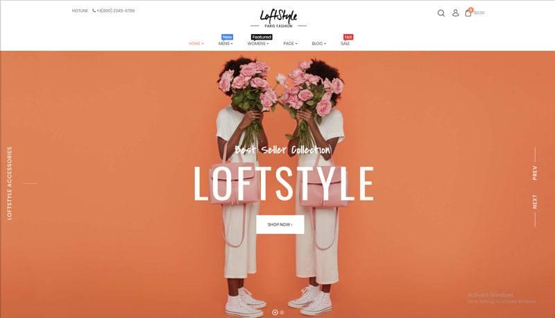 4. Loftstyle best WooCommerce WordPress Theme 2018