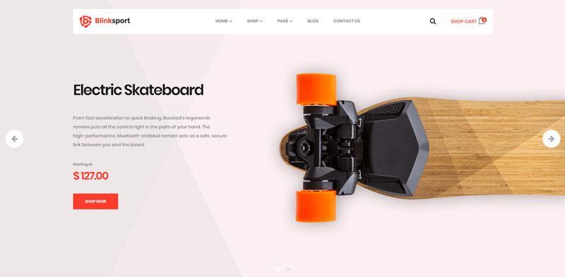 5. Blinksport best WooCommerce WordPress Theme 2018