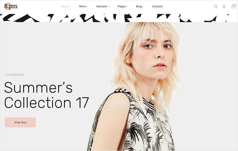 eightpm fashion wordpress theme