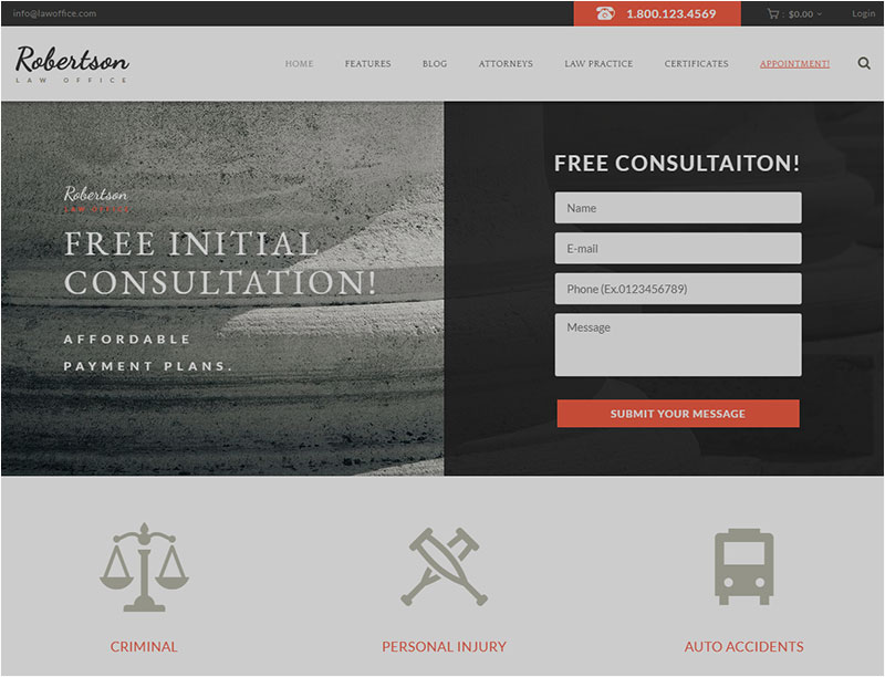 law-firm wordpress theme