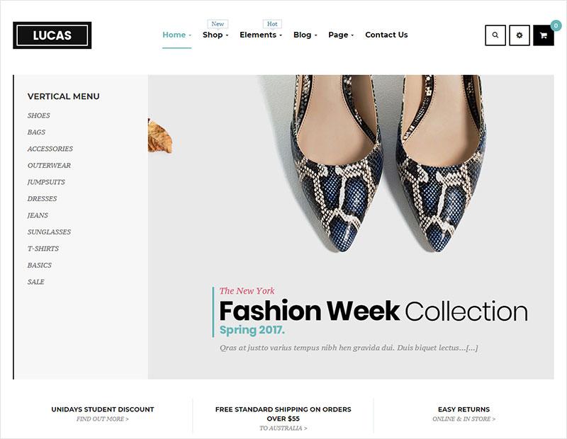 lucas free fashion theme