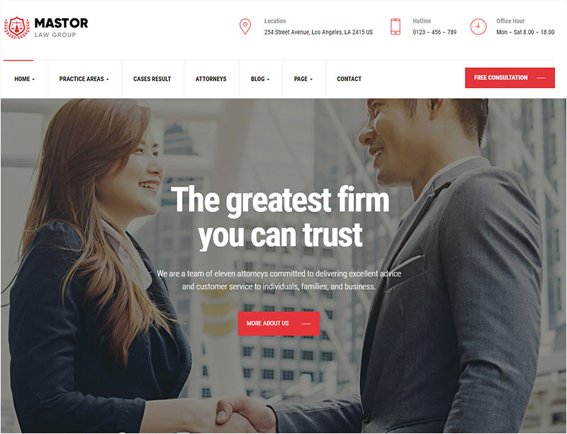 mastor law wordpress theme