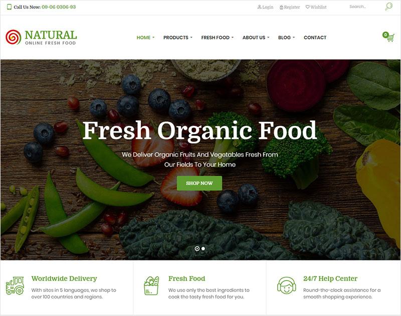 natural free wordpress theme