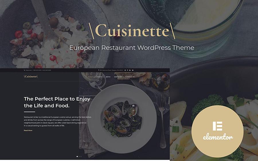 Cuisinette - European Restaurant Cross-browser WordPress Theme