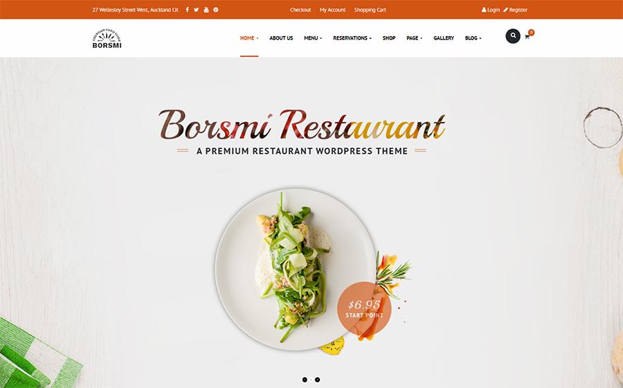 Borsmi - WordPress Restaurant Theme