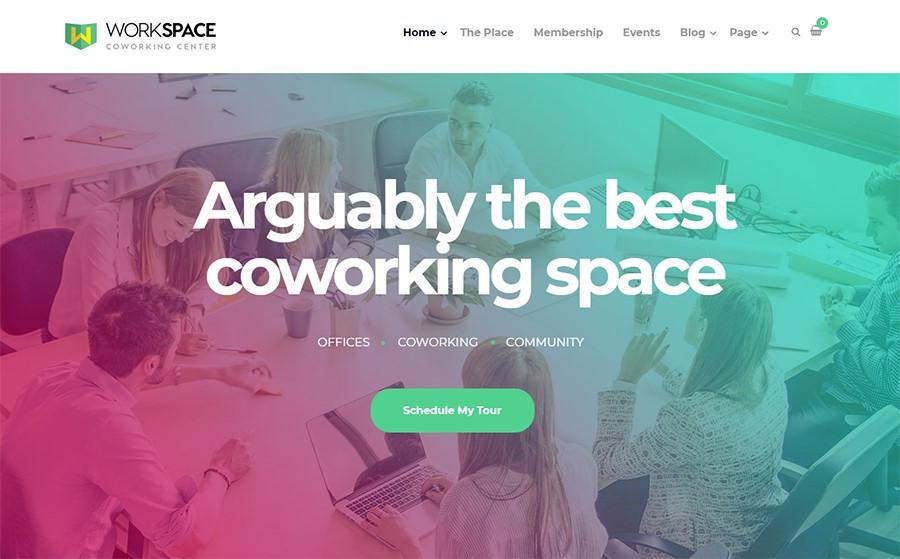 workspace wordpress theme