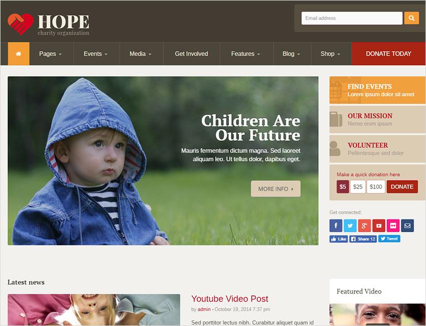 Candidate - Political/Nonprofit/Church WordPress Theme